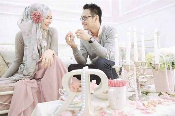 pre-wedding ria miranda the one time I think having a flower on the side of your hijab scarf doesnt look ridiculous