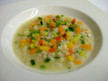 Zuppa di orzo e verdurine