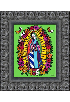 VIRGEN DE GUADALUPE embellished giclée on canvas (framed) $1218