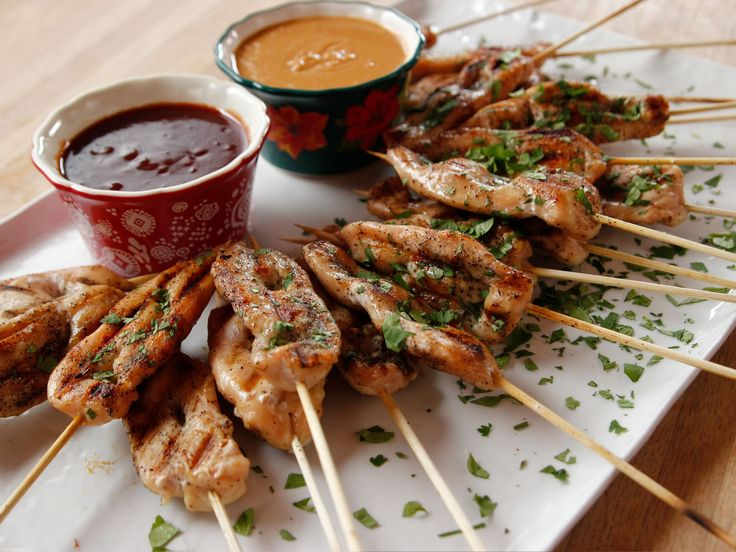 Get this all-star, easy-to-follow Grilled Chicken Skewers recipe from Ree Drummond- peanut sauce recipe