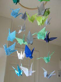 diy paper crane mobile origami                                                                                                                                                                                 More