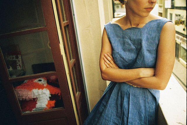 why are you not in my closet!?: Denim Dresses, Boxes Pleated, Pretty Denim, Apparel Inspiration, Scallops Neckline, Fabrics Denim, Fashion Inspiration, Dressmaker Inspiration, Lights Denim