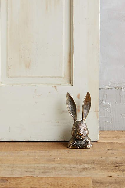 Rabbit Ears Doorstop #anthroregistry Anything with bunnies and I'm sold!