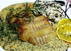 Seelachsfilet mit Senf - Dill - Soße
