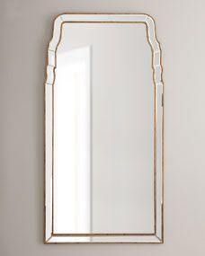 walls Queen-Anne-Style Mirror