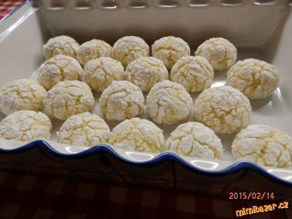 Kokosovo-citronové CRINKLES-popraskané,vrásčité sušenky