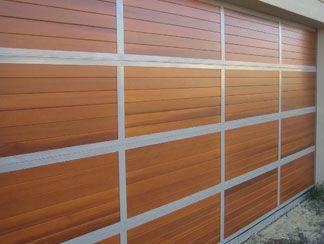 Garage Doors North Shore   Aliwood   Timber inserts used with a custom designed aluminium frame.