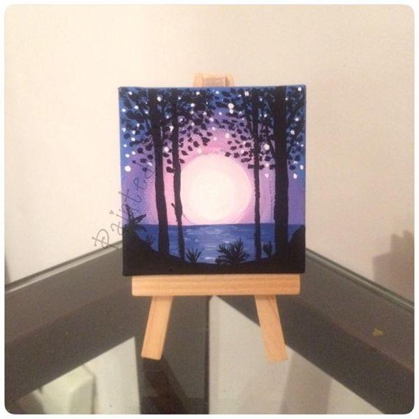 40 Detailed Miniature Painting Ideas Bored Art Mini Paintings Miniature Painting Mini Canvas Art