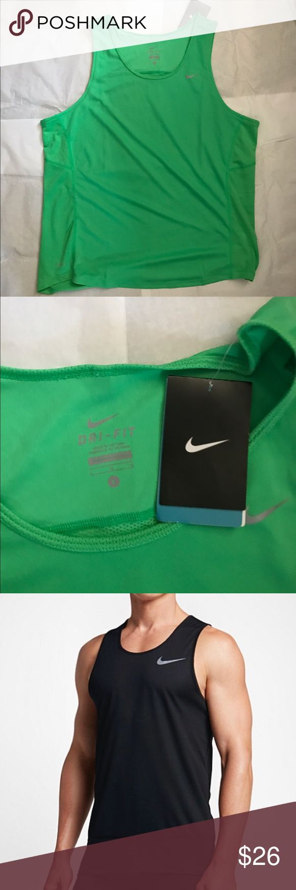 Nike Men's Dri-Fit Green Tank Top Brand new with tags Nike Men's Dri-Fit Green Tank Top. Perfect workout shirt. Never been worn. Nike Shirts Tank Tops