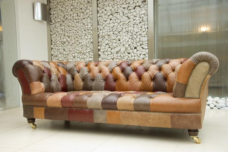 james rose patchwork leather sofa want it pinterest. Black Bedroom Furniture Sets. Home Design Ideas