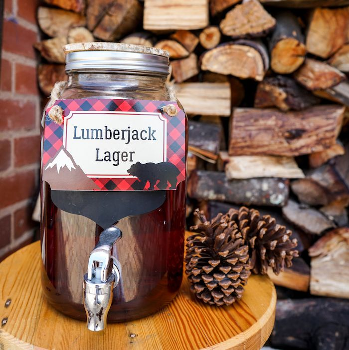 Lumberjack Lager from a Little Lumberjack Birthday Party on Kara's Party Ideas | KarasPartyIdeas.com (14)