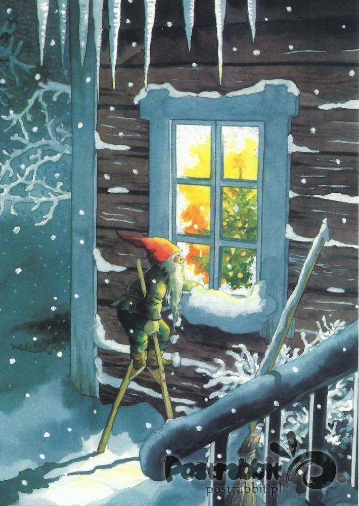 Skrzat zaglądajacy przez okno