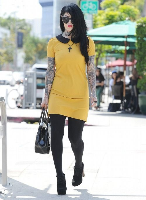 Kat Von D leaving Urth Cafe May 7th, 2014