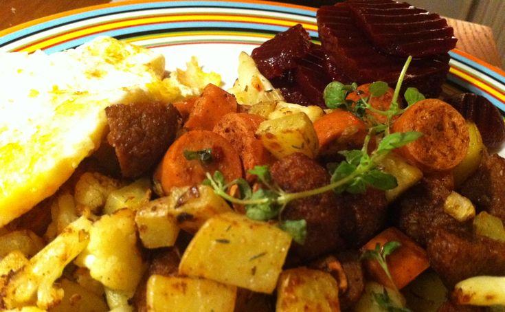 Pytt i panna | Jävligt gott - en blogg om vegetarisk mat och vegetariska recept för alla, lagad enkelt och jävligt gott.