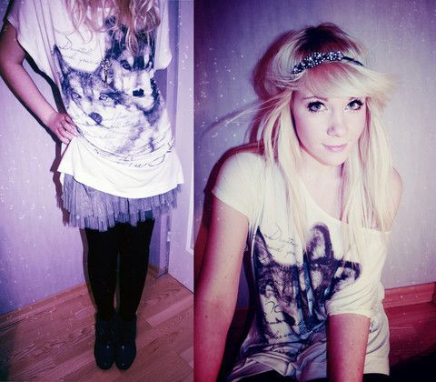 indie scene fashion white blonde hair