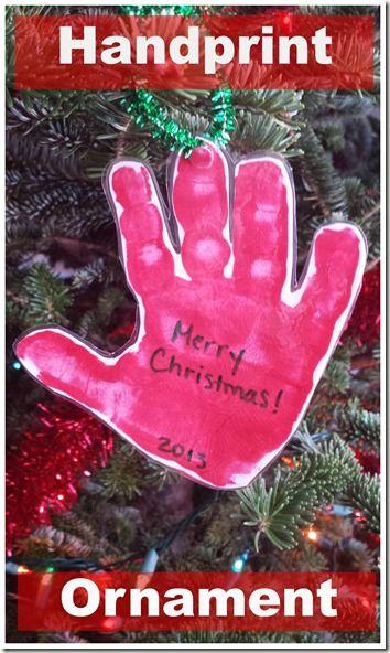 Handprint Ornament - Mom Inspired Life