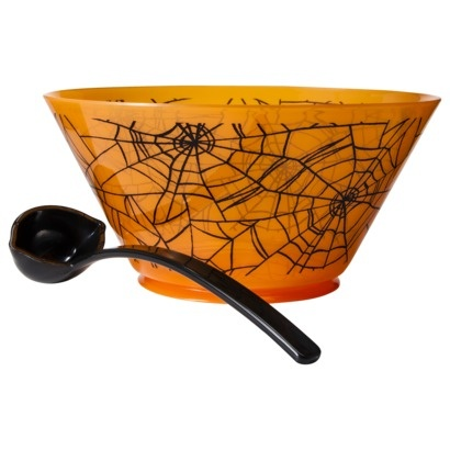 target halloween spider web punch bowl with ladle orange - Halloween Punch Bowl Recipes