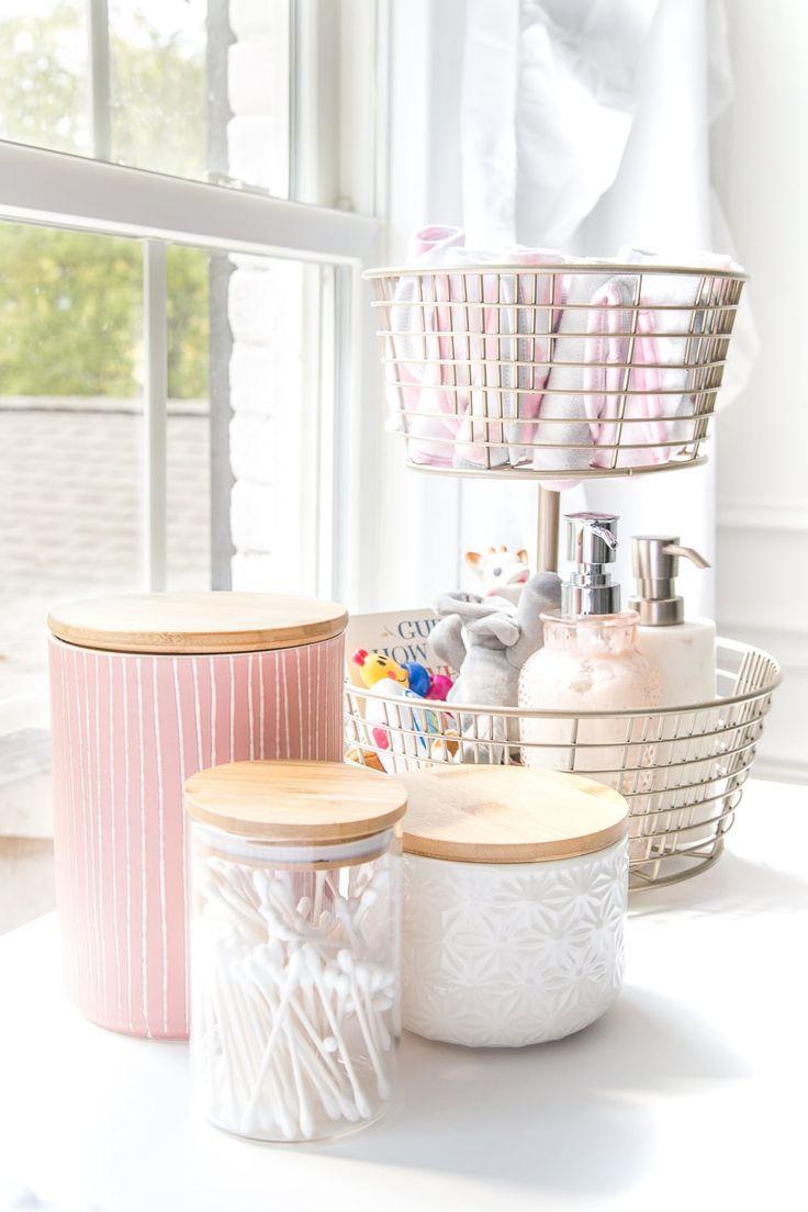 White Floral Nursery Makeover Reveal Baby Nursery Organization