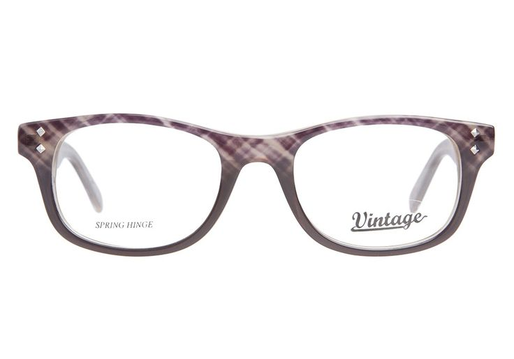 Vintage VN0101 050 Brown Plaid | It's Your Lucky Day! Love this frame? Re-pin it for your chance to win it!