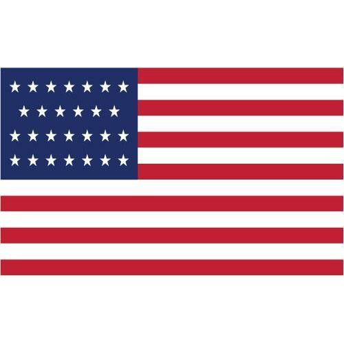 27 Star - American Flag: James Polk was the only president to serve under this flag (1845-1846)