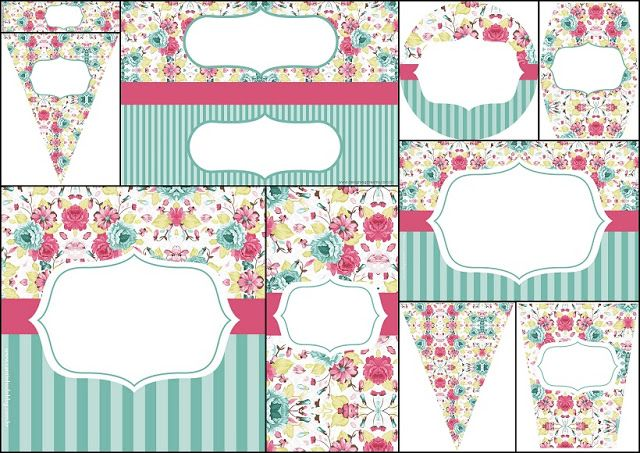 Quinceanera Special Shabby Chic: Free Printable Mini Kit.