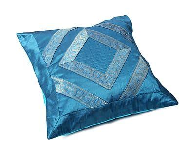 Наволочка декоративная - хлопок - голубой, 40х40 см