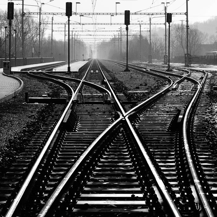 Railway, street photography, black and white, station