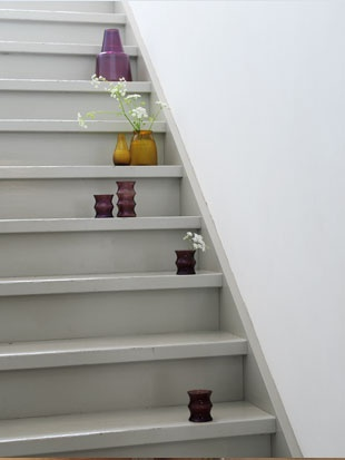 Simple grey stairs