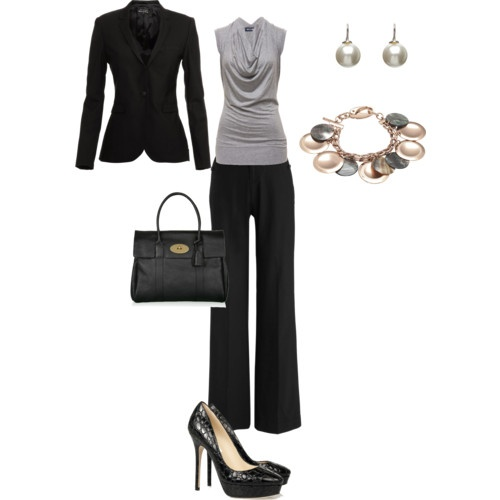 Job interview outfit - love the jewelry!