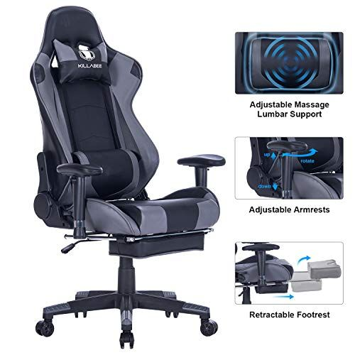 Amazing Von Racer Big And Tall 350Lb Reclining Gaming Chair Gamerscity Chair Design For Home Gamerscityorg