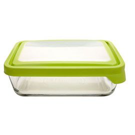 Glass Baking Dish and Storage with Trueseal Lid, 11 cup by Anchor Hocking