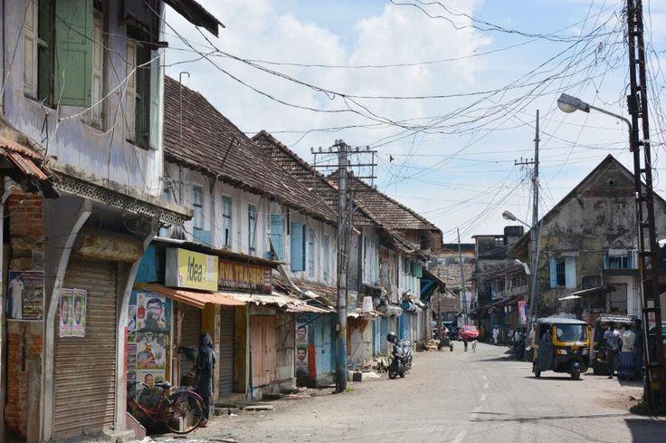 Kochin, India - November 1, 2015 - Typical indian housing in Mattancherry, Kochin, South India