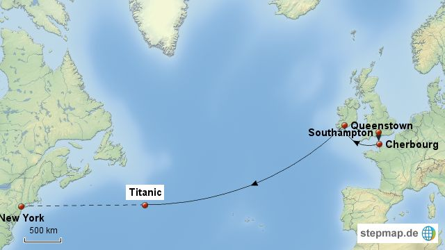 Map of Titanic Route - Yahoo Image Search Results