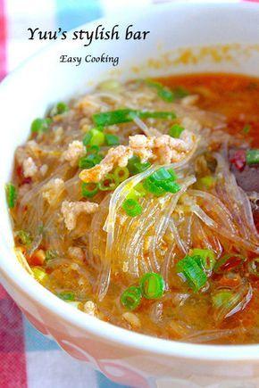 坦々春雨スープ