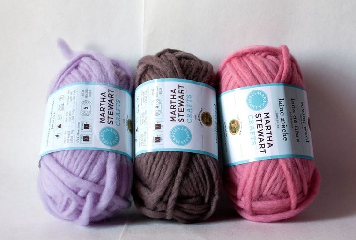 Martha Stewart 100% Wool Roving Package of 3 choose your color