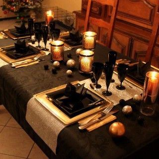 562 best images about tables de reveillon on pinterest - Deco table reveillon ...
