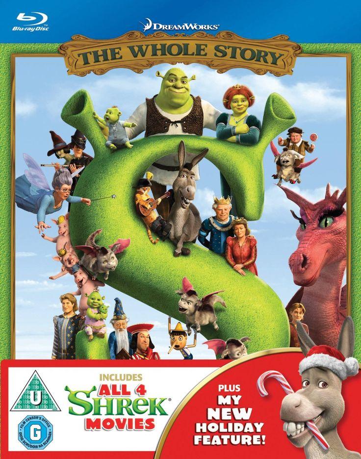 Shrek/Shrek 2/Shrek The Third/Shrek: Forever After - The Final... Blu-ray: Amazon.co.uk: Andrew Adamson, Kelly Asbury, Conrad Vernon, Rachel Falk, Chris Miller, Mike Mitchell, Ted Elliott, David Lipman, Aron Warner, John H. Williams, Teresa Cheng, Gina Shay: DVD & Blu-ray