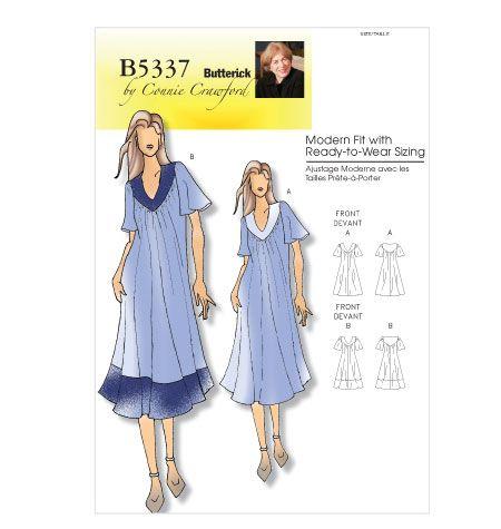 Misses'/Women's Dress  contrast collar caftan