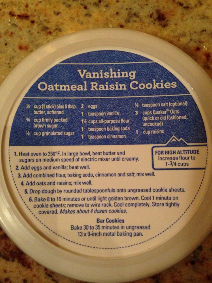 Quaker oatmeal cookie recipe high altitude