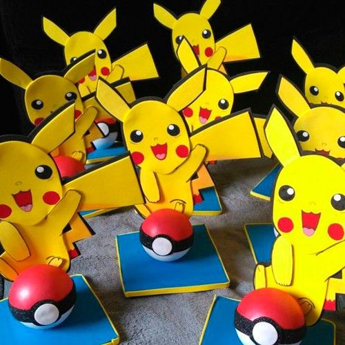 Centro de mesa fiesta pokemon