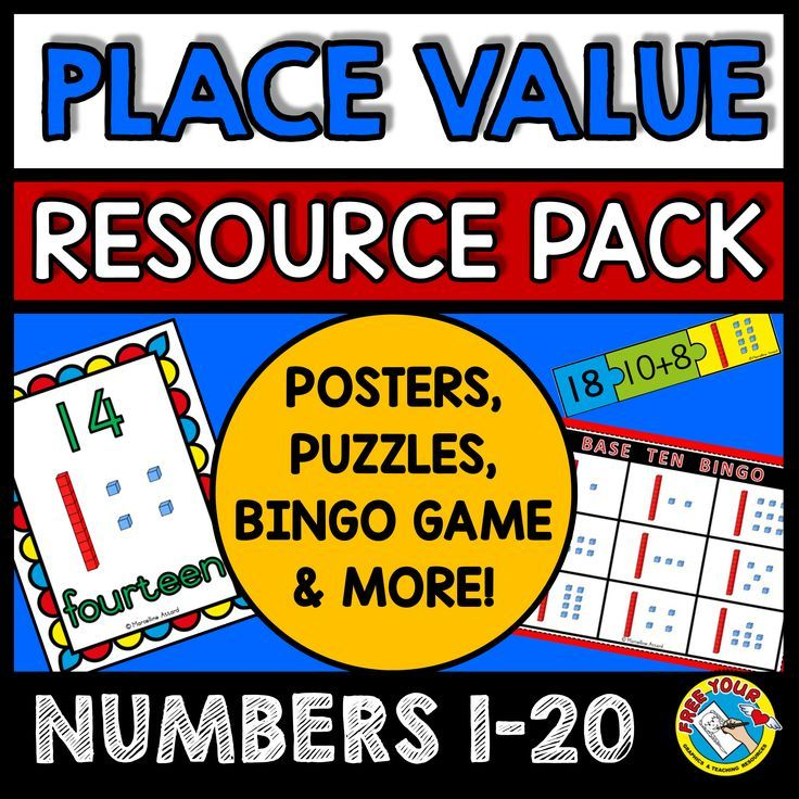 PLACE VALUE WORKSHEETS AND CENTERS: BASE TEN ACTIVITIES & PLACE VALUE POSTERS  A GREAT RESOURCE PACK TO TEACH PLACE VALUE (BASE TEN)!  In this pack (a zipped folder with 2 pdf files) you will find: 20 BASE TEN POSTERS (NUMBERS 1 TO 20) A SET OF 3 PIECE-JIGSAW PUZZLES (NUMBERS 11 TO 19) BASE TEN BINGO GAME (NUMBERS 11-20) WITH 10 CARDS MATCHING GAME (NUMBERS 1-20)
