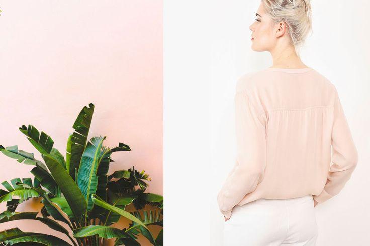 Collection Stella Forest Automne Hiver 2016 Stella Poudre #stellaforest #stellapoudre #pastel #poudre #rosé #fallwintercollection #fashion #mode #plante #landskape #autumn #winter #palmtree