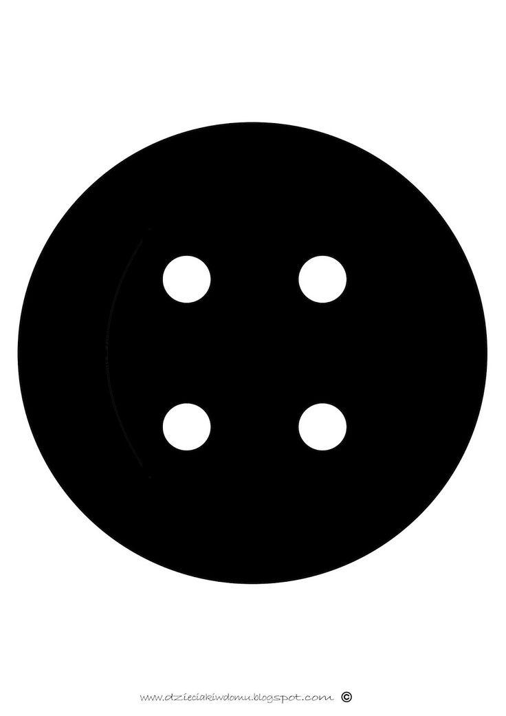 czarno-białe obrazy dla niemowlaka - guzik