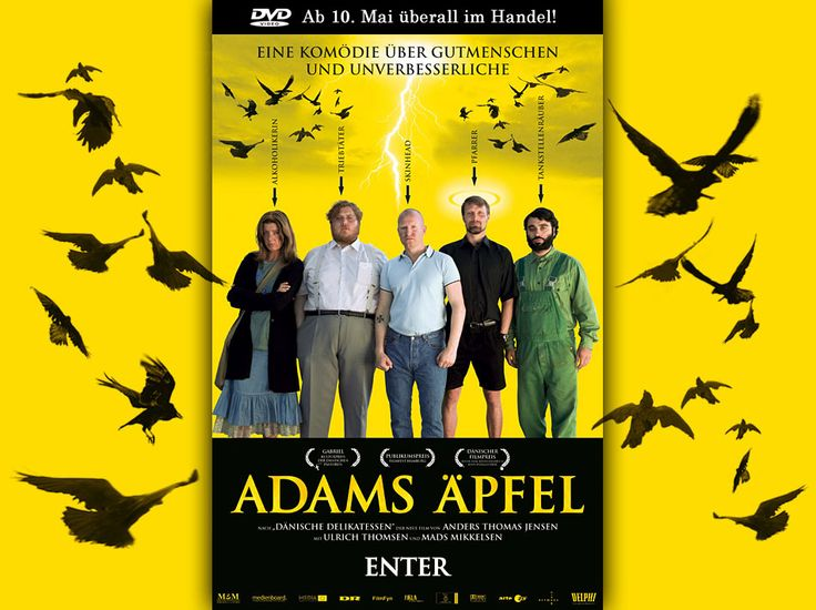 ADAMS ÄPFEL (Adams æbler) | Mads Mikkelsen, Ulrich Thomsen, Paprika Steen, Ole Thestrup | Director: Anders Thomas Jensen | Official Homepage and Trailer: http://www.adams-aepfel.de/