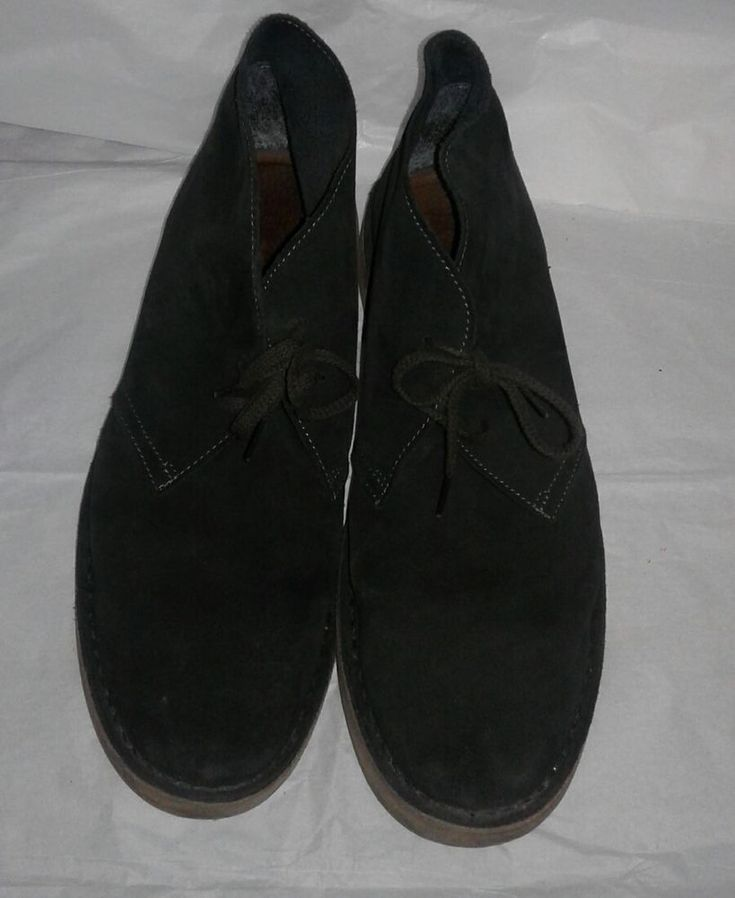 J. CREW Men's Italian Suede Black Chukka Boots Sz 12 MADE IN ITALY Rubber Soles #JCREW #DesertBoots