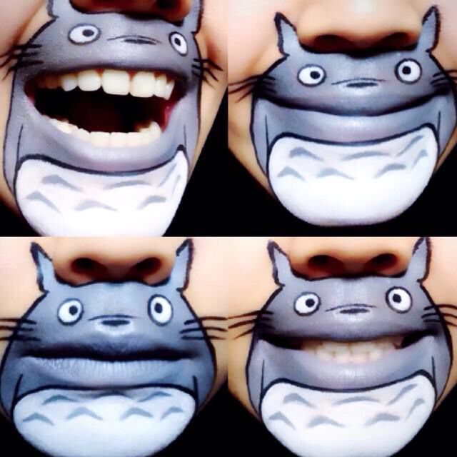 Totoro Wow awesome but creepy cool.