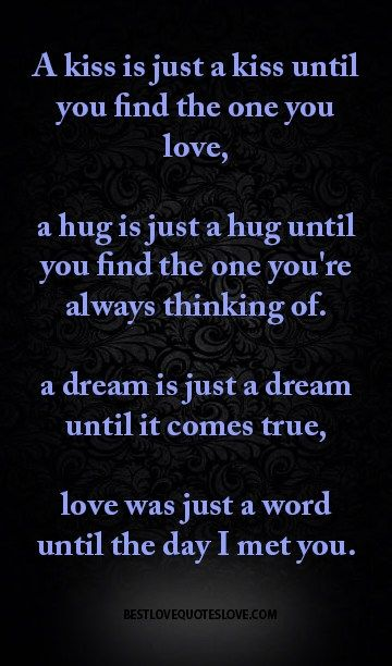 a hug is just a hug until you find the one you're always thinking of.