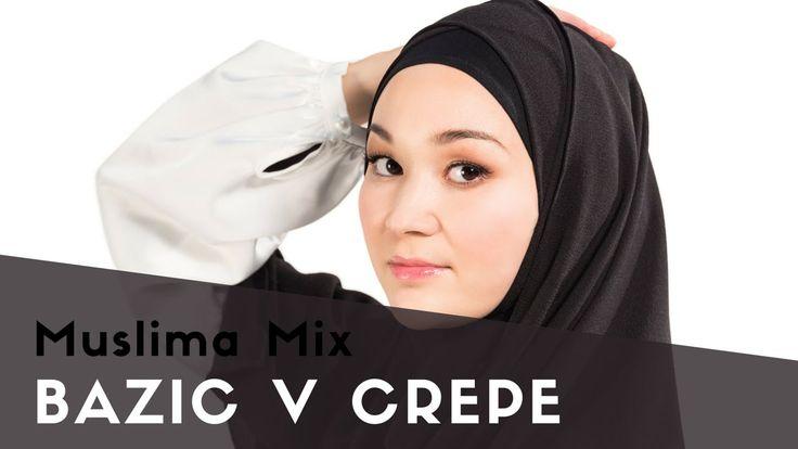 """Как одевать хиджаб быстро: BAZIS  V CREPE #10 модель коллекции """"Мгновенные хиджабы""""    {{AutoHashTags}}"""