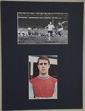 "GEOFF HURST - ENGLAND 1966 WORLD CUP - SIGNED MOUNTED PICTURE 16"" x 12"" RARE"