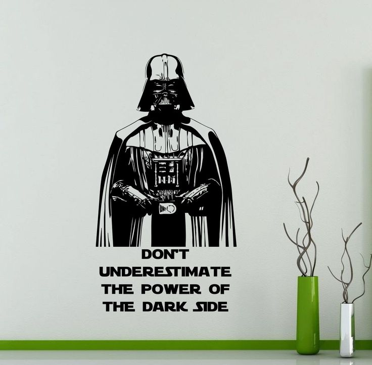 Darth Vader Wall Decal Star Wars Quotes Vinyl Sticker Don't Underestimate The Power Sith Lord Poster Kids Room Nursery Art Decor Mural 34sw by AwesomezzDesigns on Etsy https://www.etsy.com/listing/386964160/darth-vader-wall-decal-star-wars-quotes